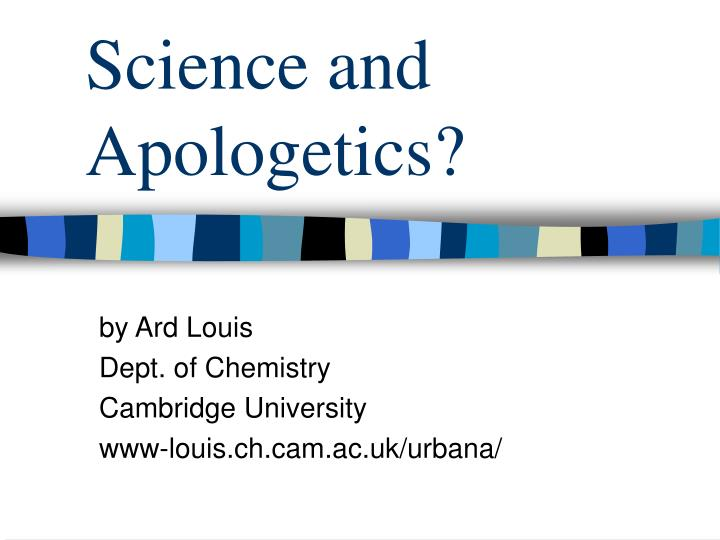 Science and apologetics