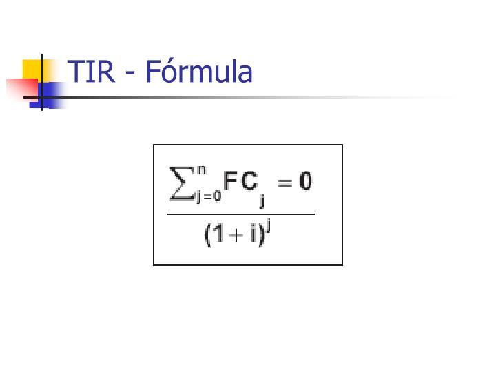 TIR - Fórmula