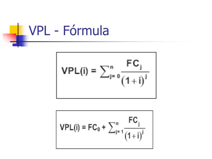 VPL - Fórmula