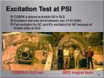 excitation test at psi