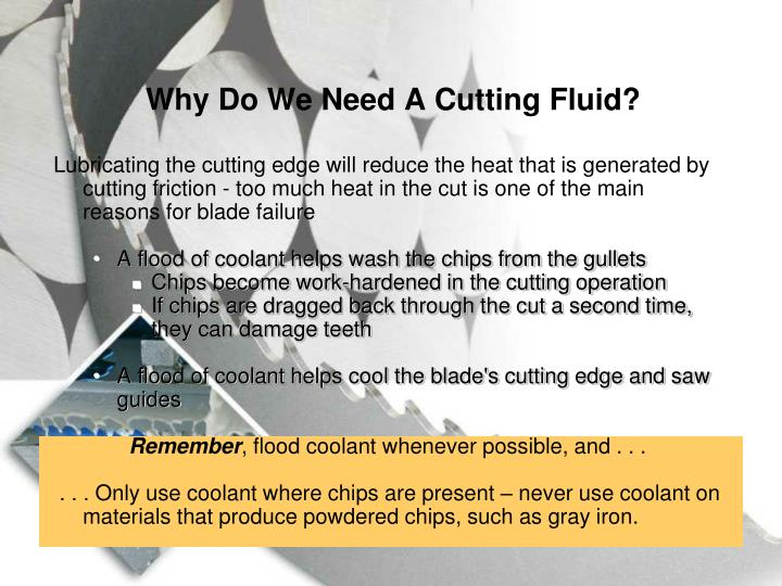Why Do We Need A Cutting Fluid?