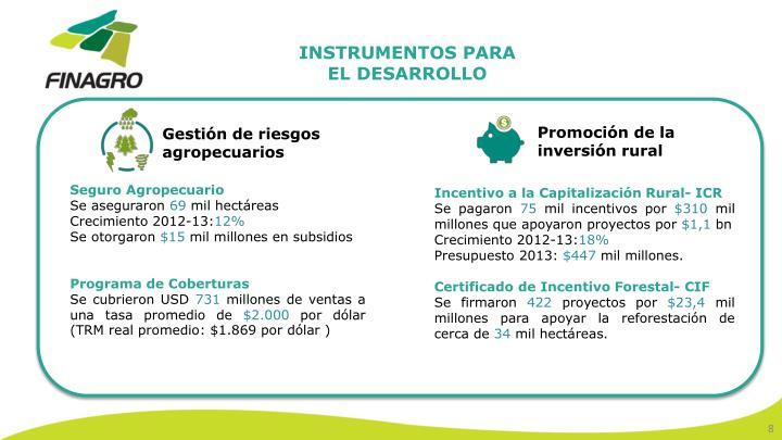 INSTRUMENTOS PARA EL DESARROLLO