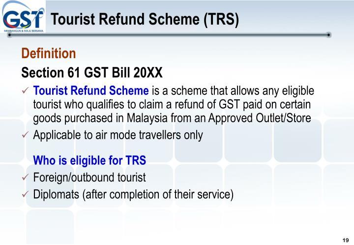 Tourist Refund Scheme (TRS)