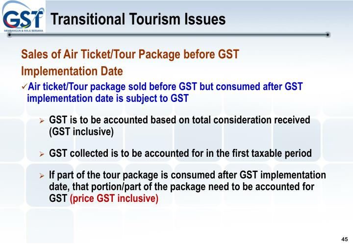 Transitional Tourism Issues