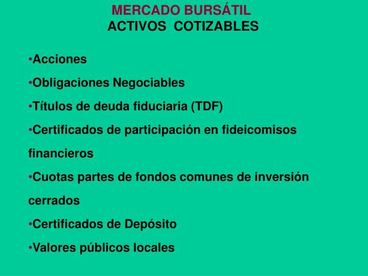 MERCADO BURSÁTIL