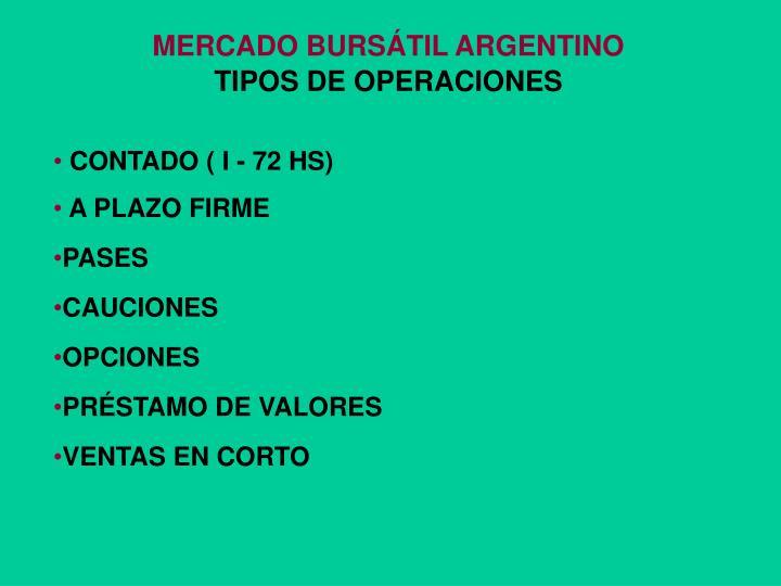 MERCADO BURSÁTIL ARGENTINO