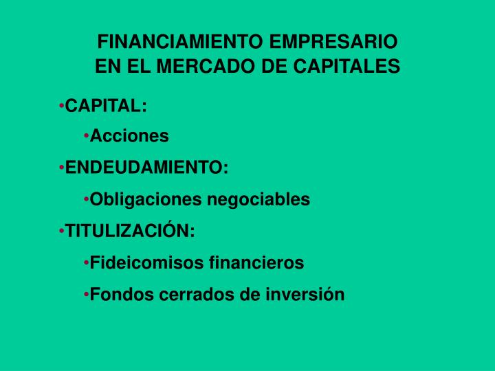 FINANCIAMIENTO EMPRESARIO