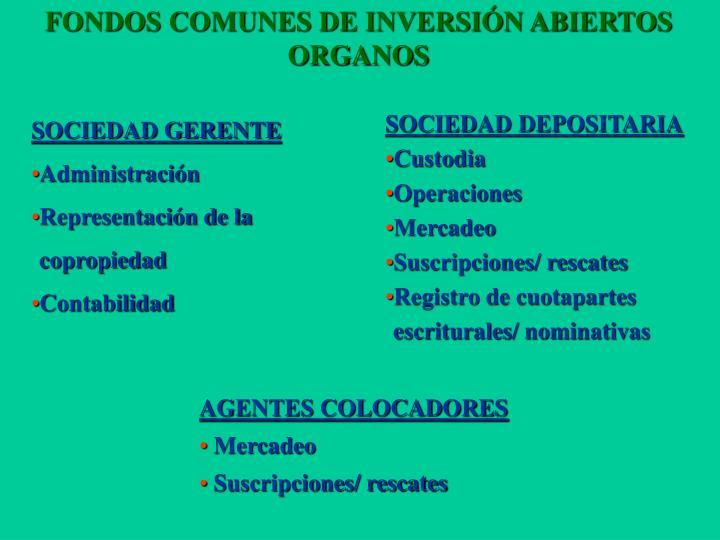 FONDOS COMUNES DE INVERSIÓN ABIERTOS