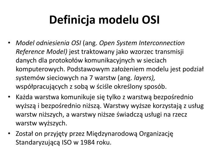 Definicja modelu OSI