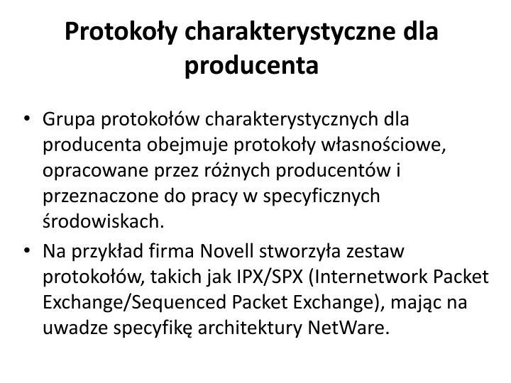 Protokoły charakterystyczne dla