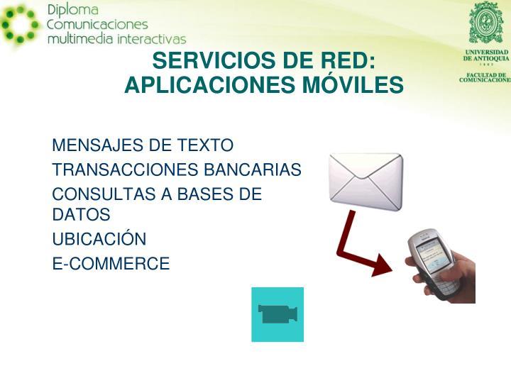 SERVICIOS DE RED: