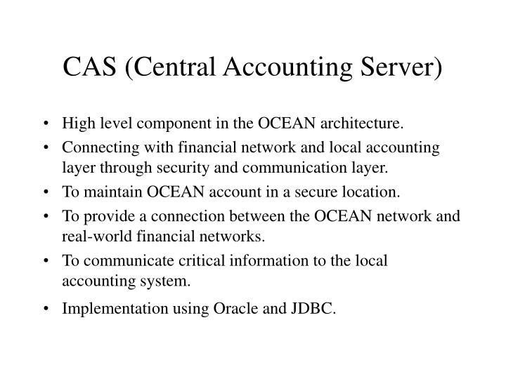 CAS (Central Accounting Server)