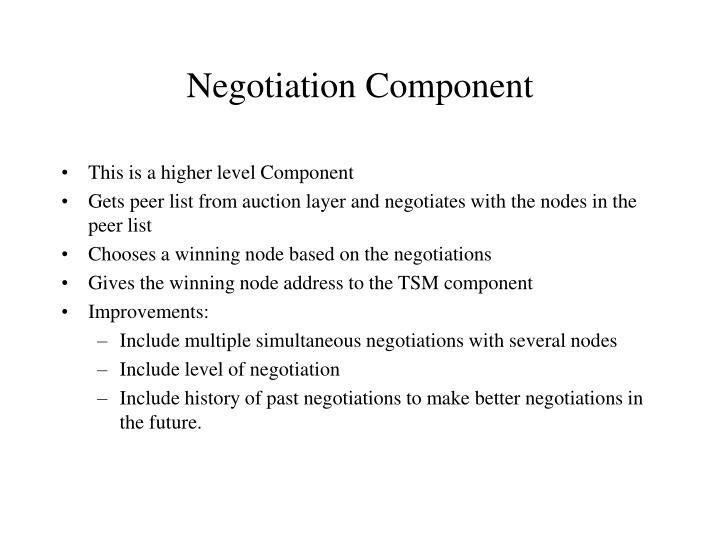 Negotiation Component