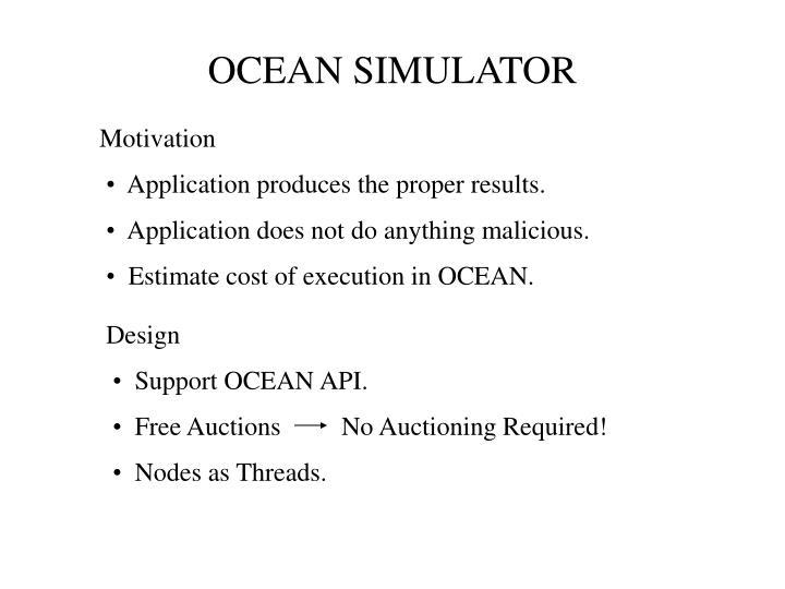 OCEAN SIMULATOR