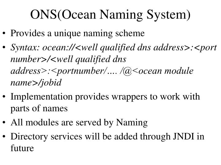 ONS(Ocean Naming System)