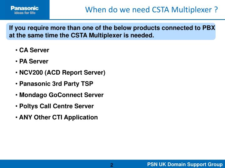 When do we need CSTA Multiplexer ?