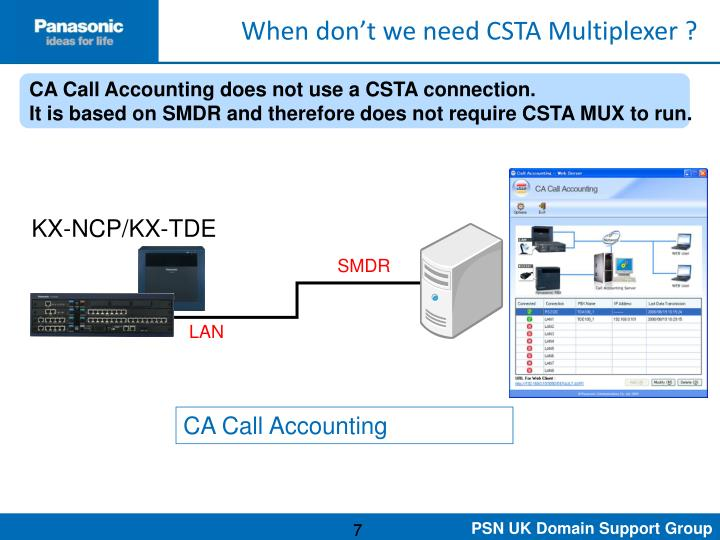 When don't we need CSTA Multiplexer ?