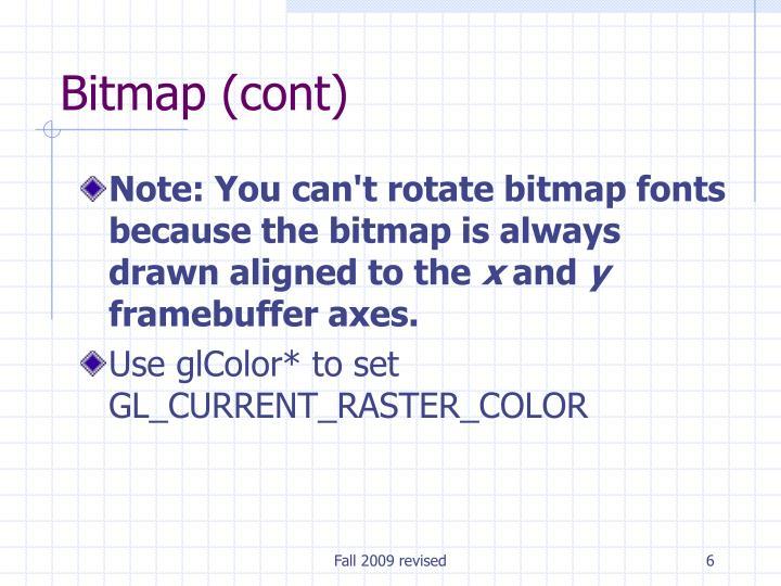 Bitmap (cont)
