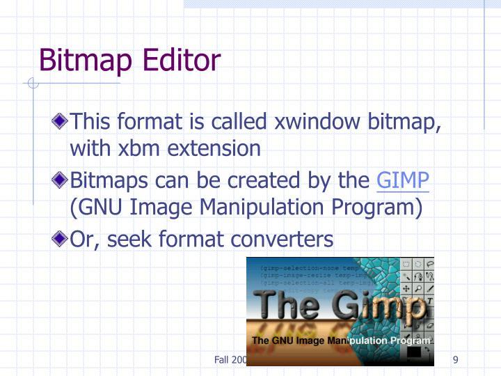 Bitmap Editor