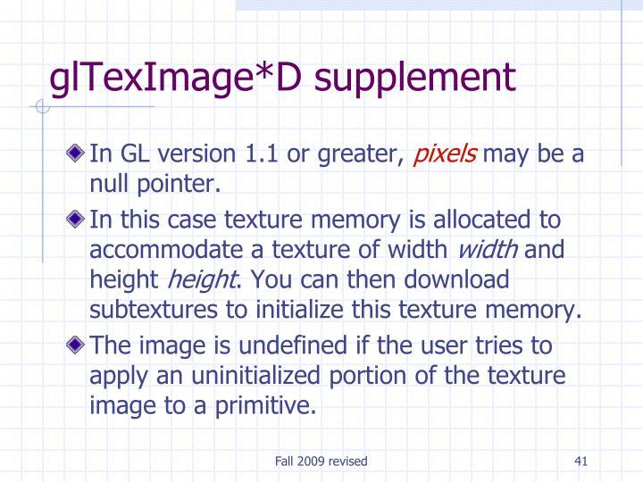 glTexImage*D supplement