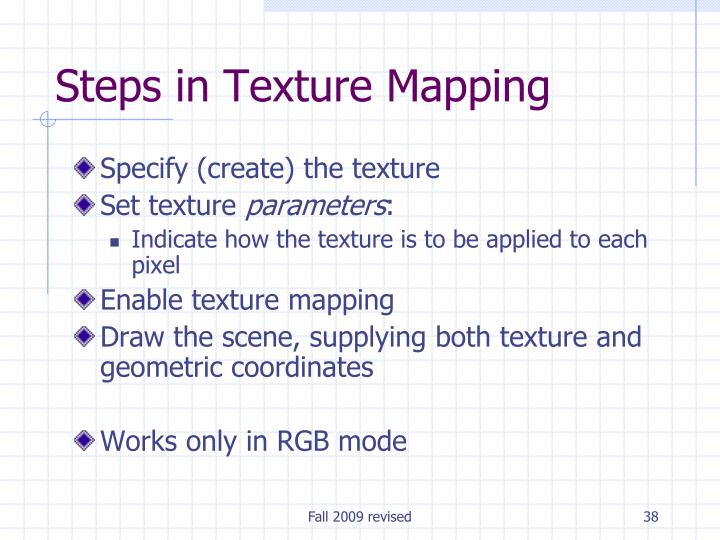 Steps in Texture Mapping