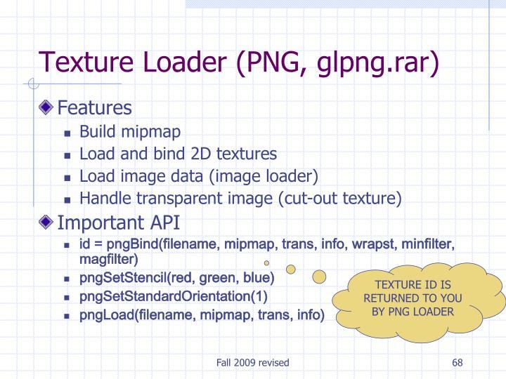 Texture Loader (PNG, glpng.rar)