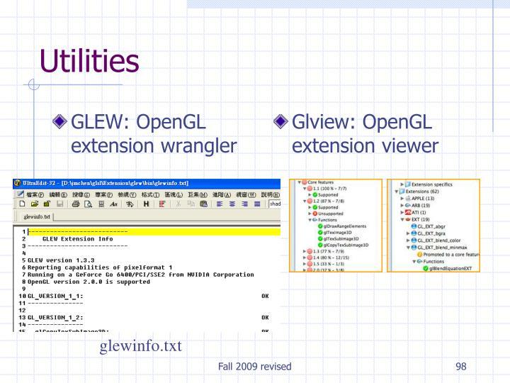 GLEW: OpenGL extension wrangler
