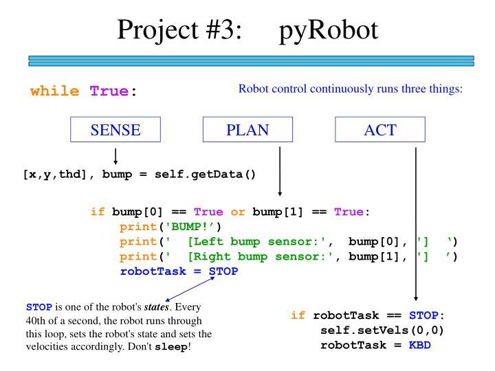 Project #3:     pyRobot