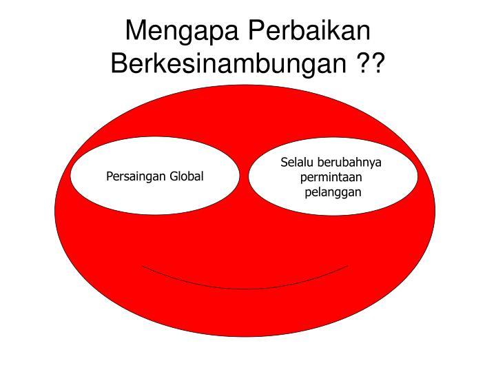 Mengapa Perbaikan Berkesinambungan ??