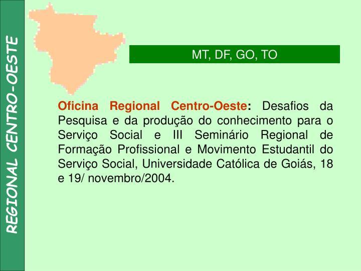 REGIONAL CENTRO-OESTE