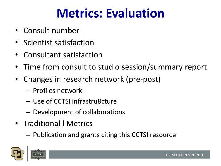Metrics: Evaluation