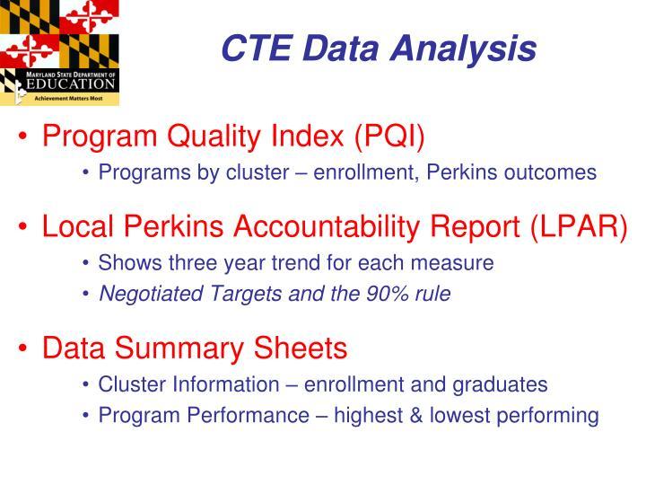 CTE Data Analysis