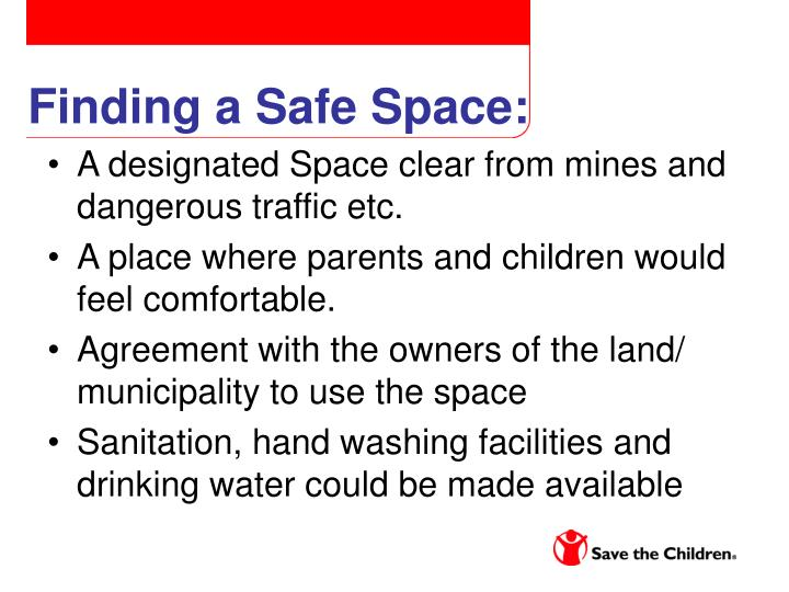 Finding a Safe Space: