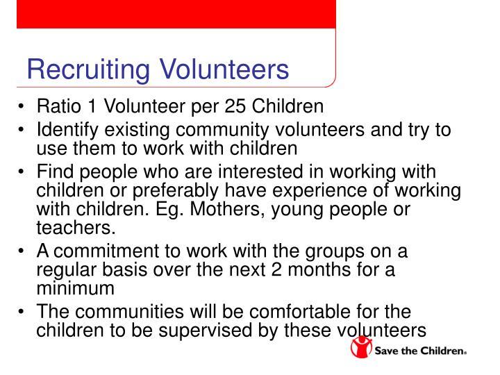 Recruiting Volunteers