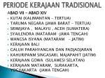 periode kerajaan tradisional
