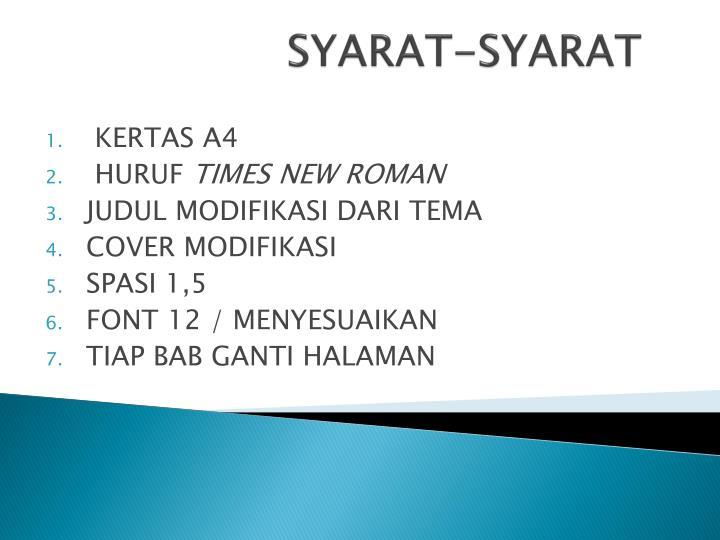 SYARAT-SYARAT