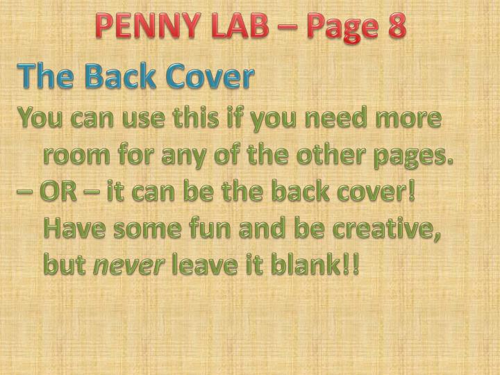 PENNY LAB – Page 8
