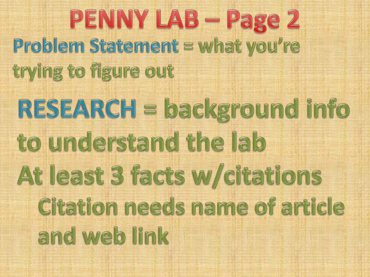 PENNY LAB – Page 2