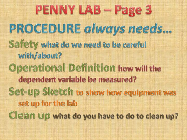 PENNY LAB – Page 3