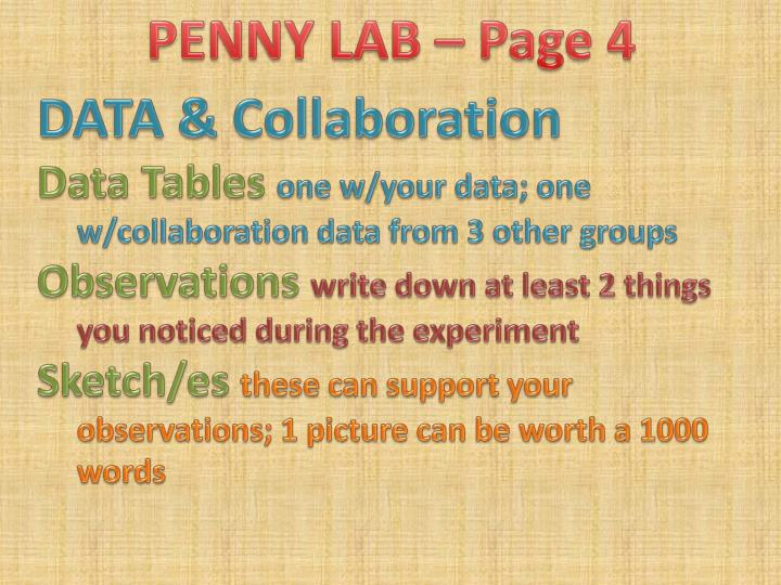 PENNY LAB – Page 4