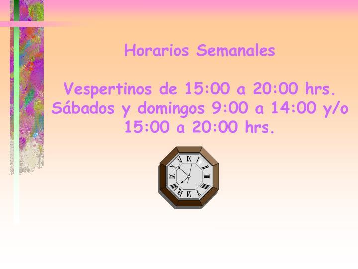 Horarios Semanales