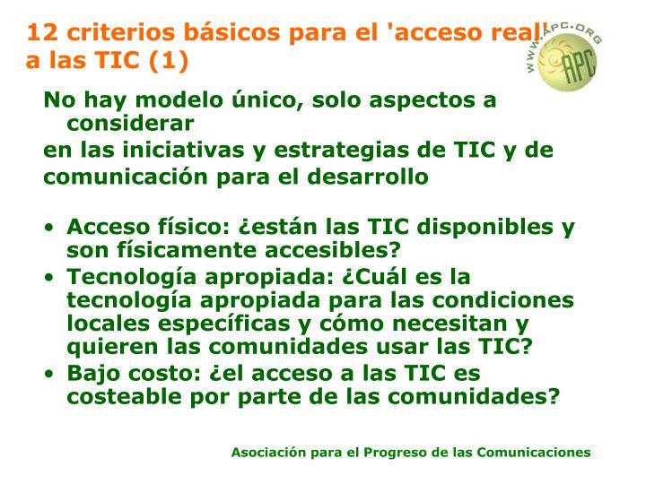 12 criterios básicos para el 'acceso real' a las TIC (1)