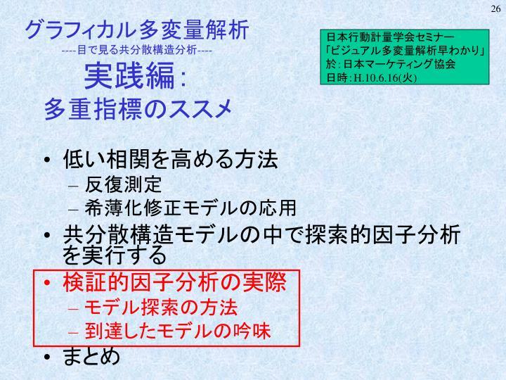 日本行動計量学会セミナー