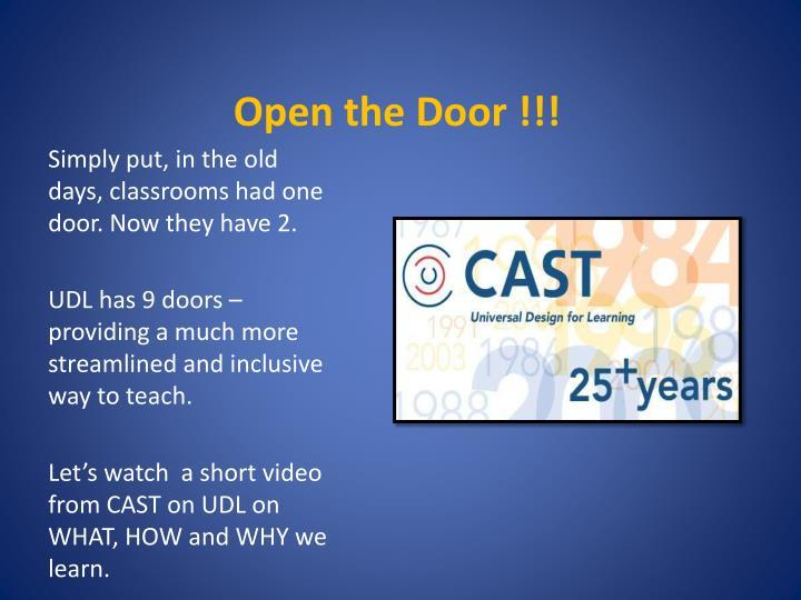 Open the Door !!!