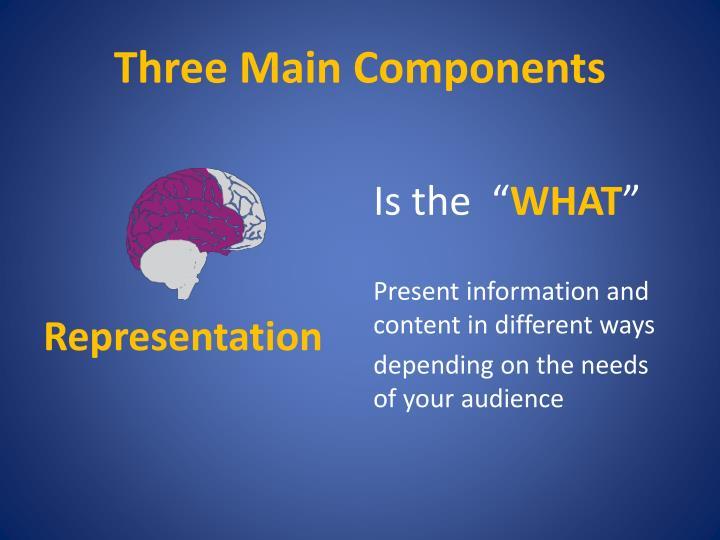 Three Main Components