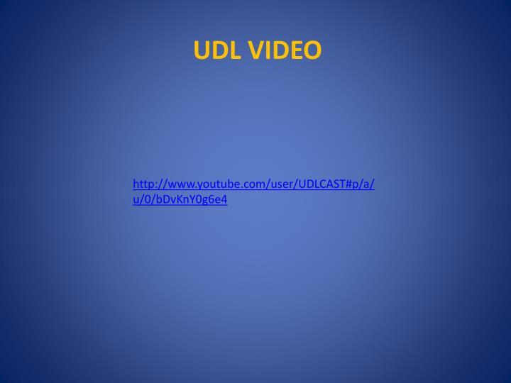 http://www.youtube.com/user/UDLCAST#p/a/u/0/bDvKnY0g6e4