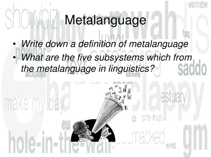 Metalanguage