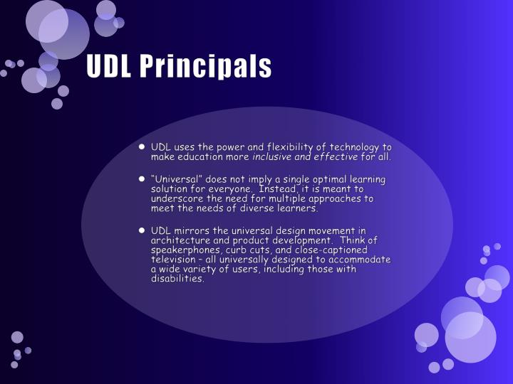 UDL Principals