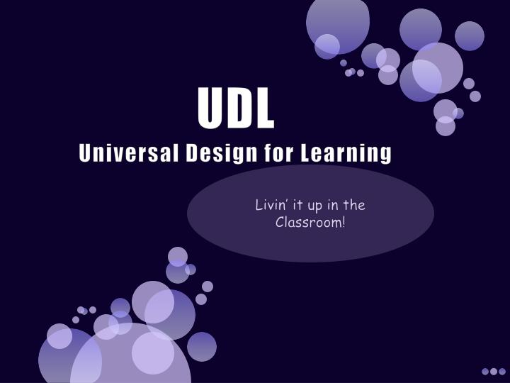 Udl universal design for learning