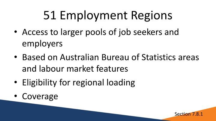 51 Employment Regions